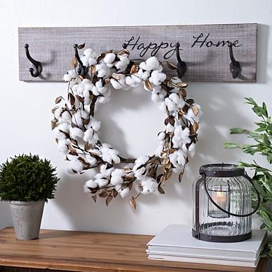 Cottonball Wreath
