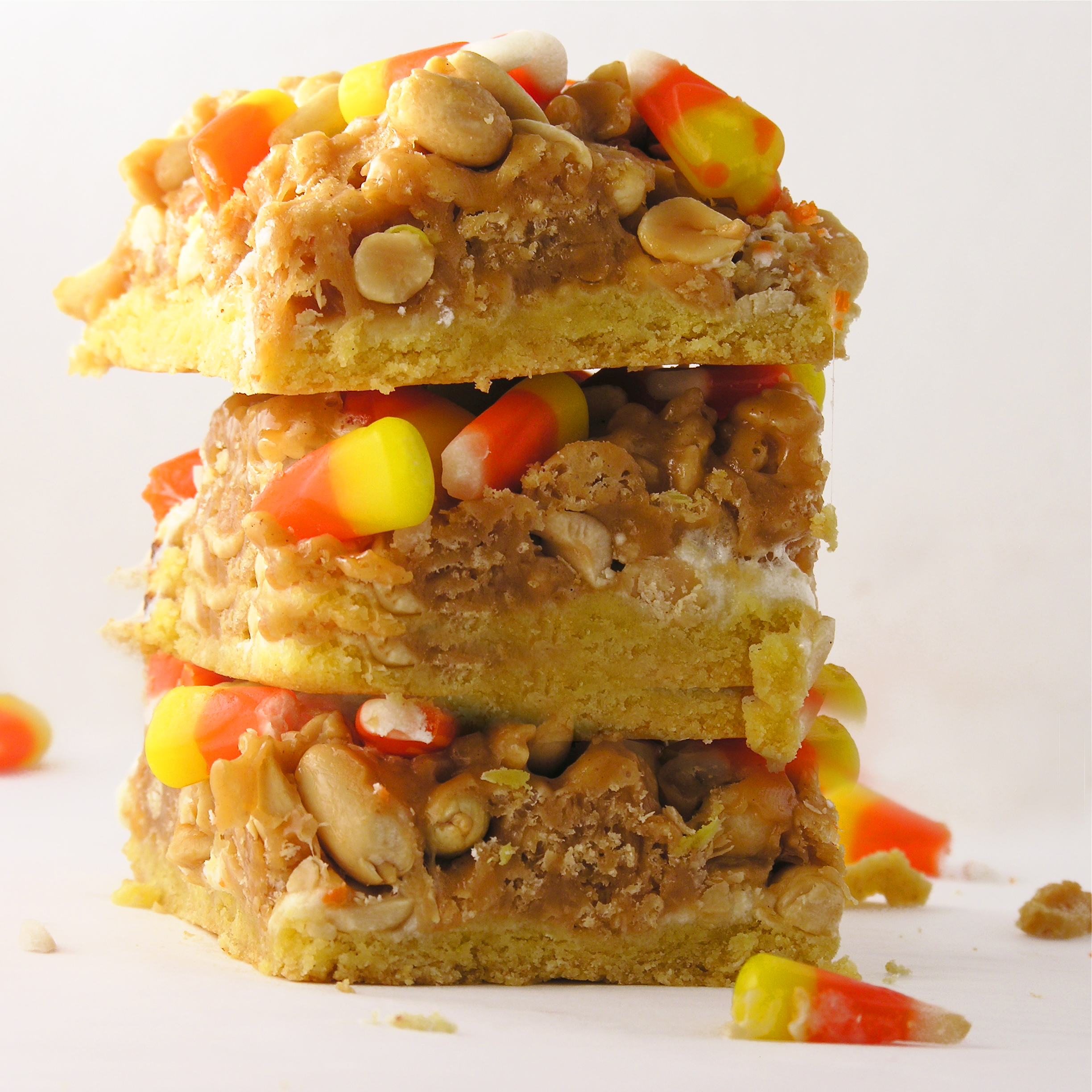 Candy Corn Peanut Bars