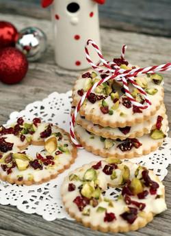 Pistachio Wreath Cookies