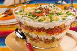 Mexican Cornbread Layered Salad
