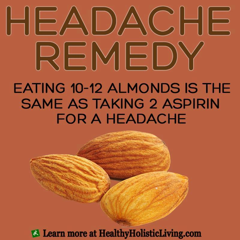 Headache Relief with Almonds!