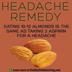 Headache Relief with Almonds!