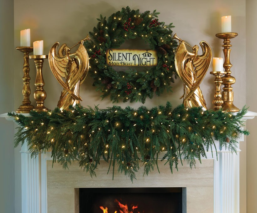 Modern Gold Angel Mantle