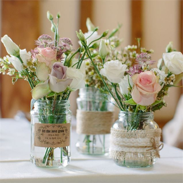 Burlap-Wrapped Arrangements