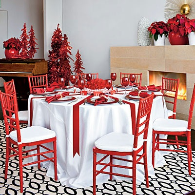 Crimson Table Decor