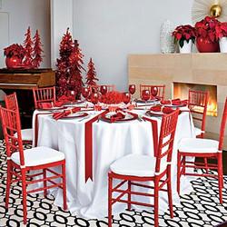 Crimson Table Decor
