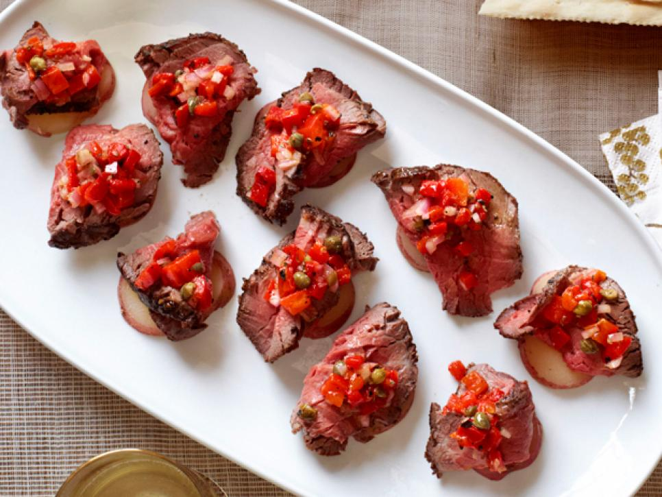 Potato Beef Canapes