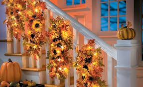 Lighted Fall Stairwell