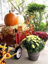 Red Wagon Fall Porch Decor