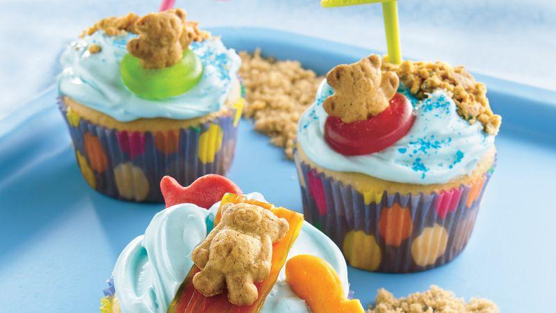 Beach Bear Cupcakes