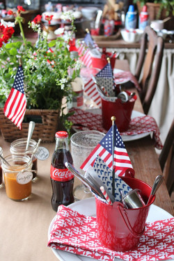 4th of July Place Settings