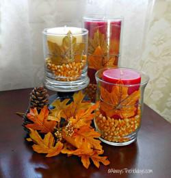 Candles in Corn Kernals