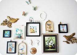 Vintage Bird Wall Montage