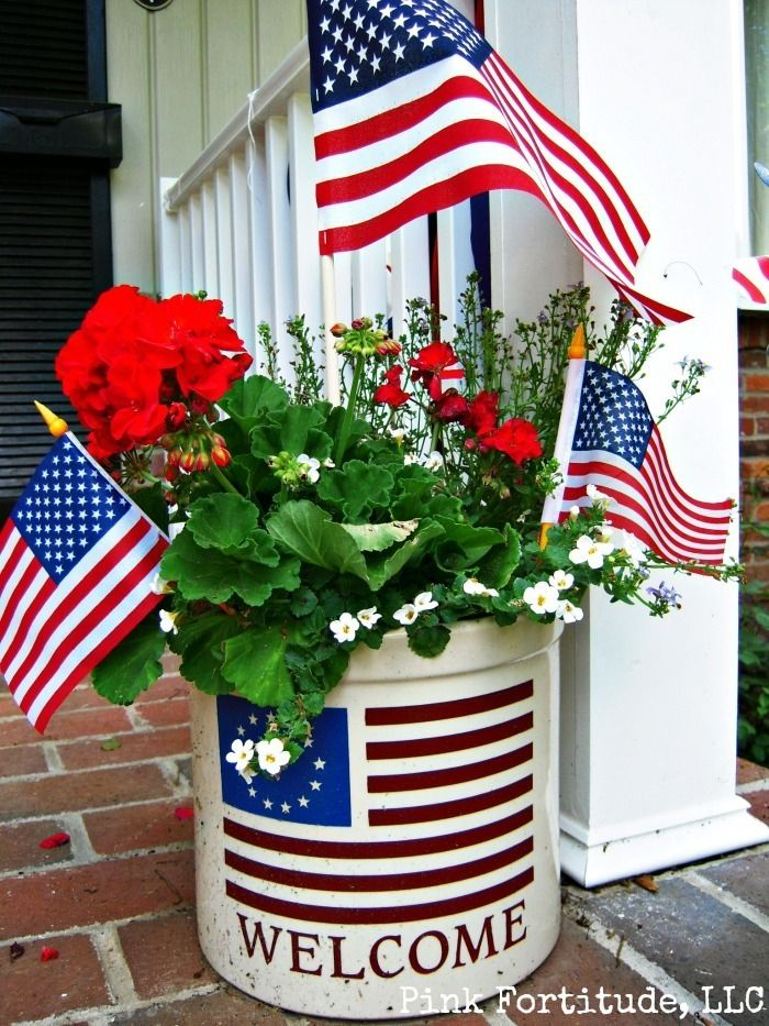 Bucket of Geraniums