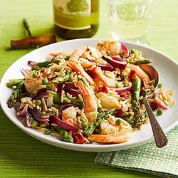 Dilled Shrimp & Orzo