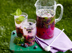 Blueberry Ginger Mojitos