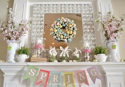 Whimsical Spring Mantle