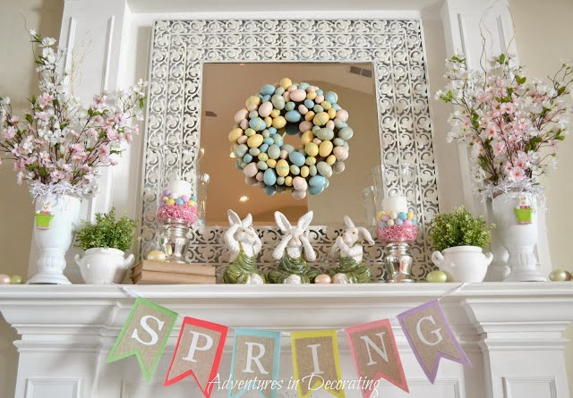 Pastel Easter Mantle