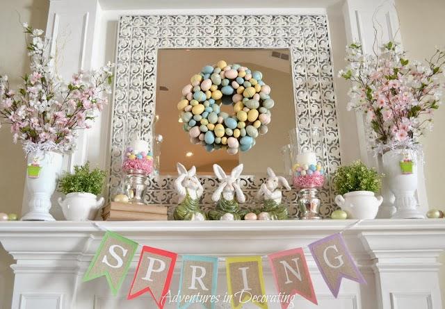 Pastel Easter Mantle