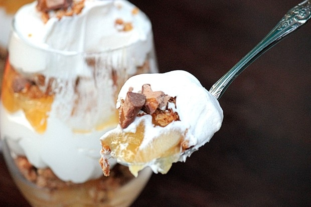 Caramel Apple Pie Trifles