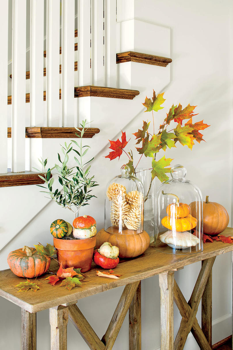 Festive Fall Side Table