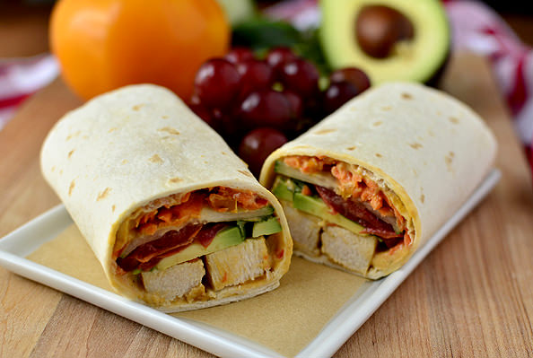 Avocado Chicken Wraps
