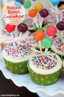 Balloon Bouquet Cupcakes