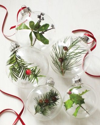 Clear Bulbs with Greenery