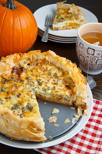 Roasted Pumpkin Quiche