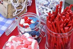 Red, White & Blue Candy Jars