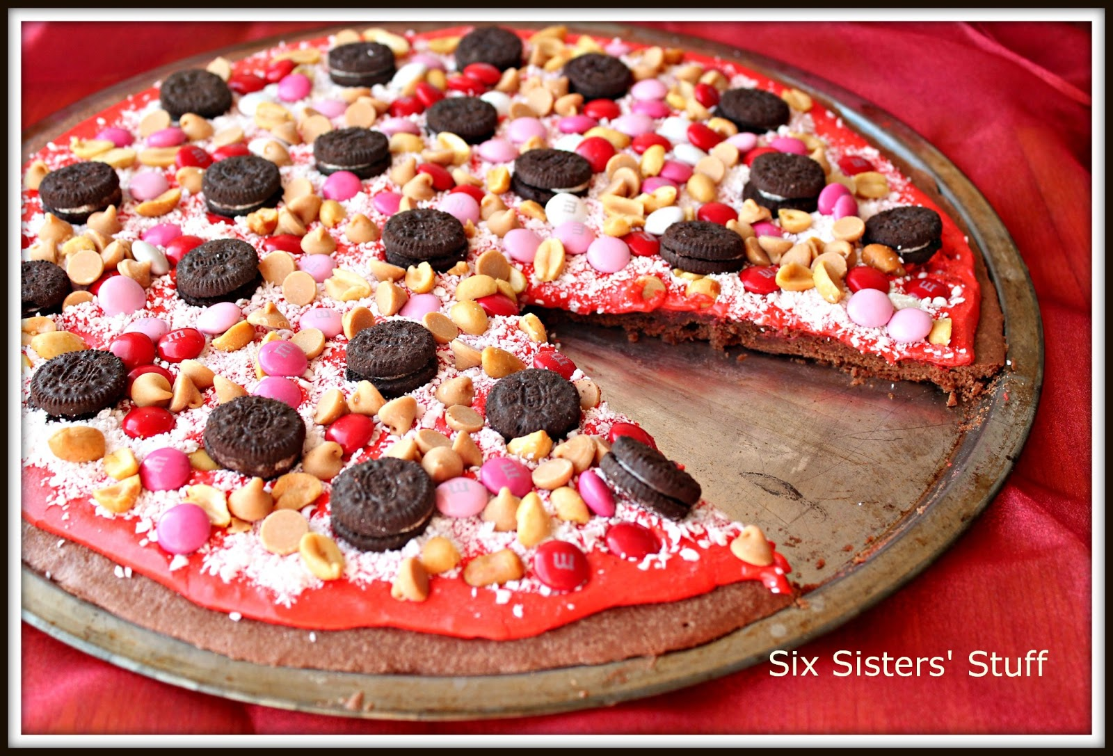 Valentine Brownie Pizza Whole