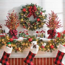 Christmas Village Mantle