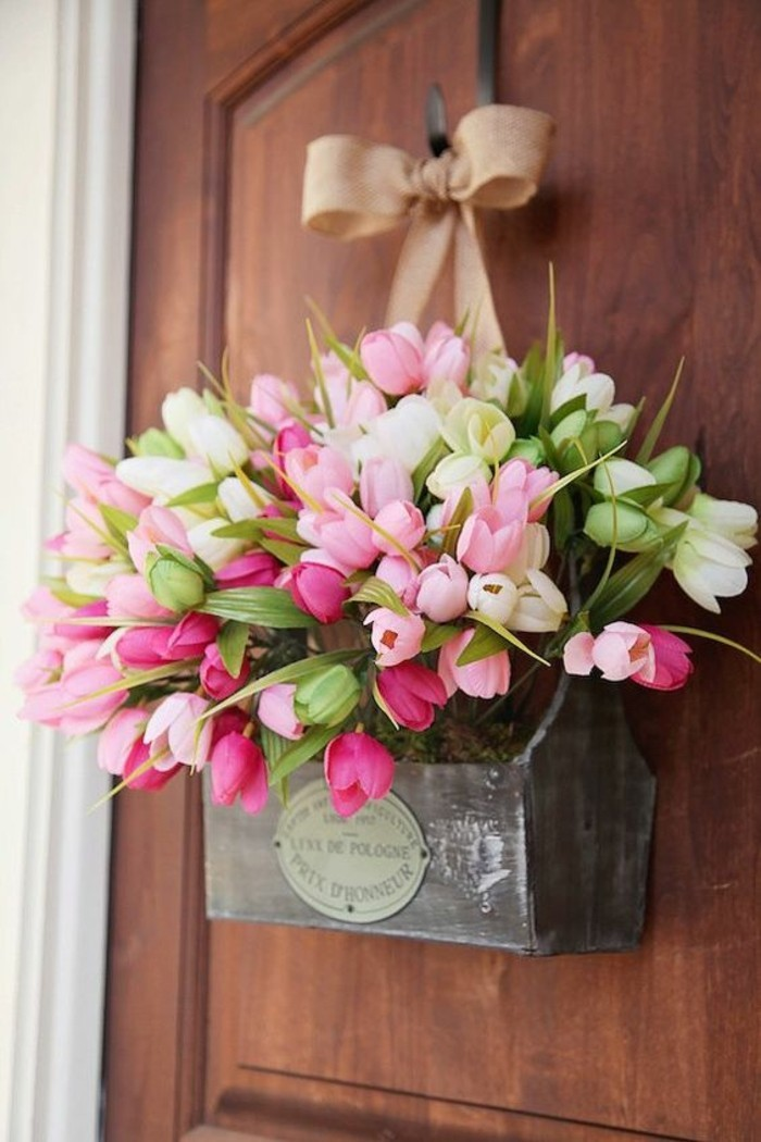 Tulip Box Door Decor