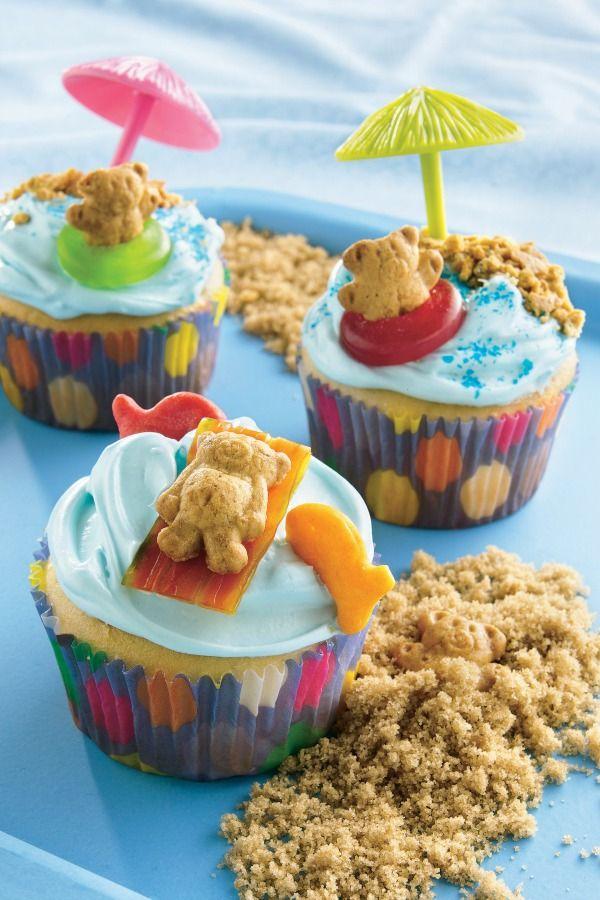 Teddybear Beach Cupcakes