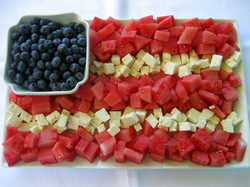Watermelon & Feta Flag
