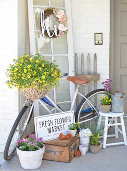 Bicycle with Spring Decor'
