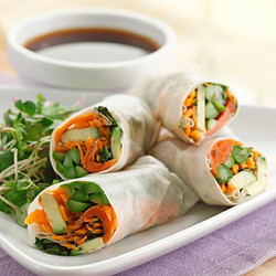 Salmon Spring Roles