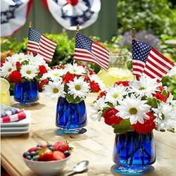 Red, White & Blue Mini Florals
