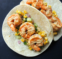 Shrimp Tacos w/Corn Salsa