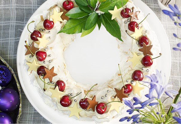 Whipped Cream Wreath