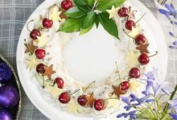 Whipped Cream Wreath