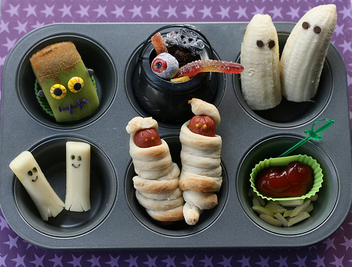 Halloween Lunch Muffin Pan