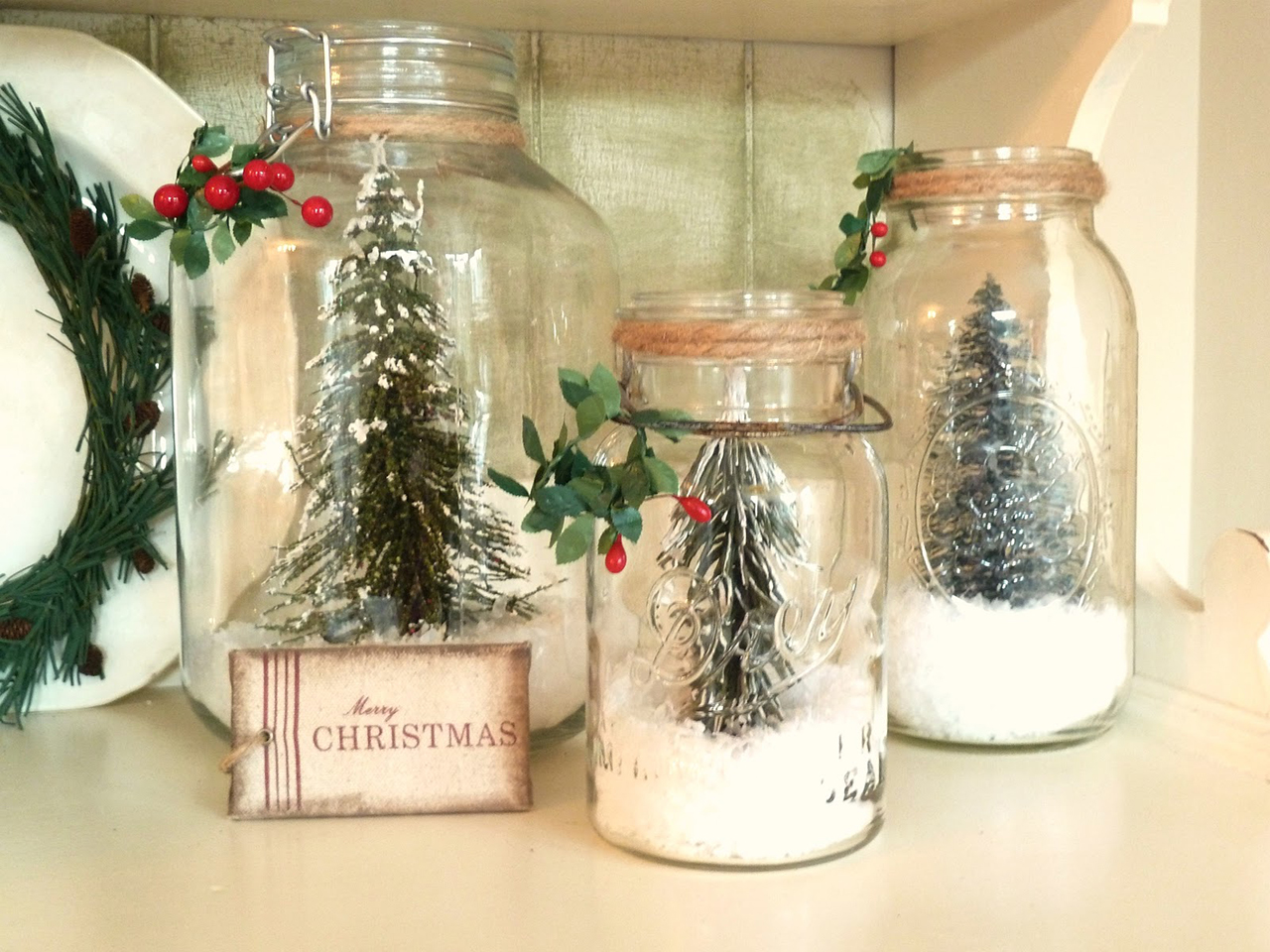 Trees & Snow Jars