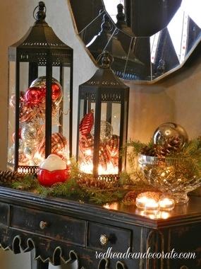 Ornament Filled Lanterns