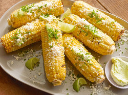 Grilled Corn with Cotija Cheese