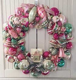 Festive Pink Wreath