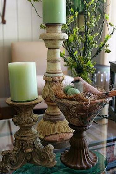 Sage, Stoneware & Bird