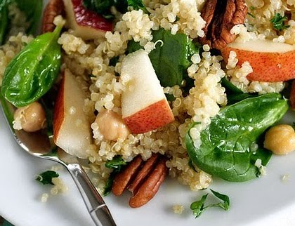 Pear, Quinoa & Spinach Salad