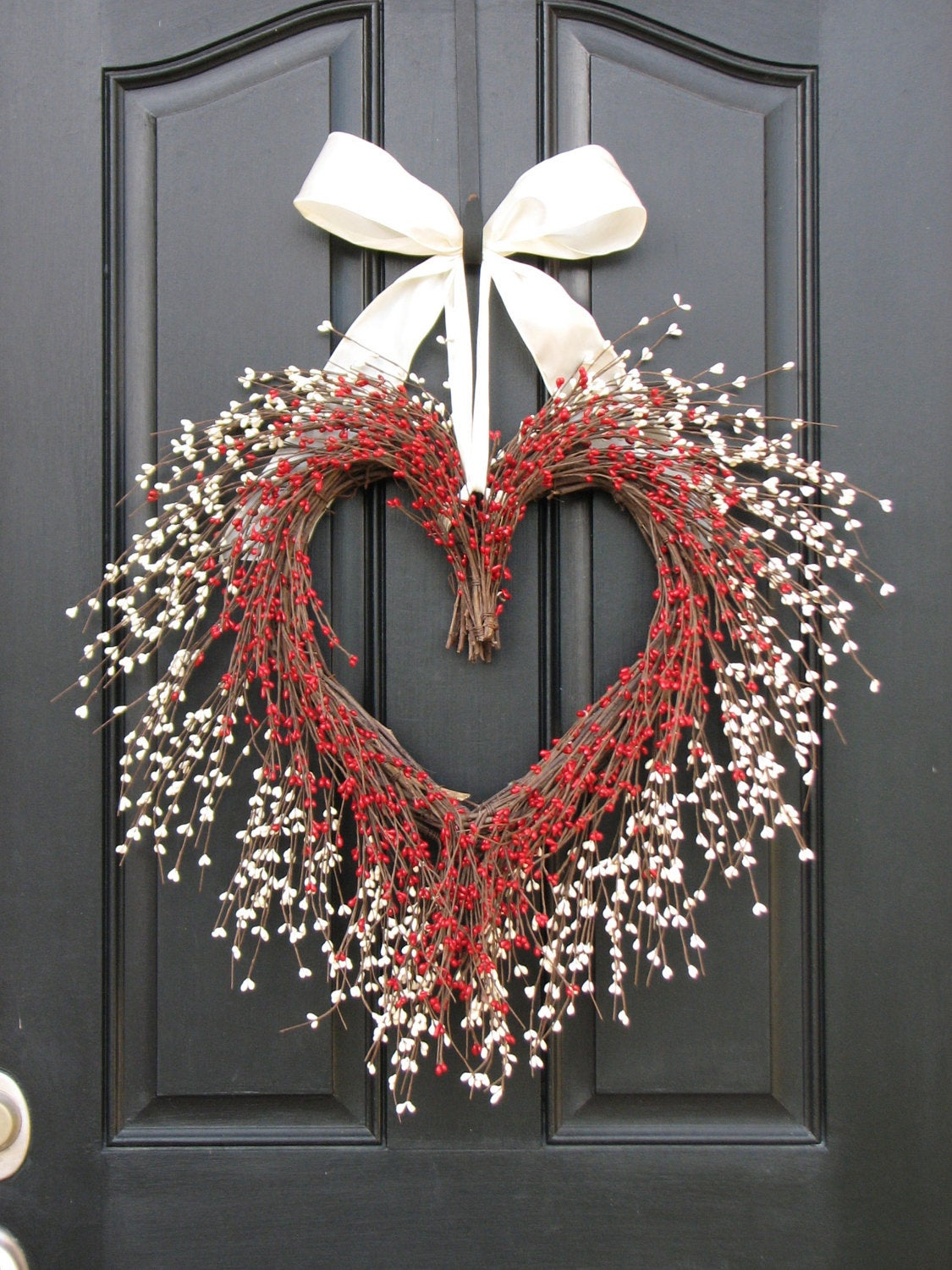 Berries & White Floral Heart