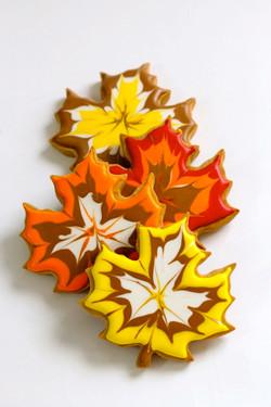 Stunning Maple Leaf Cookies